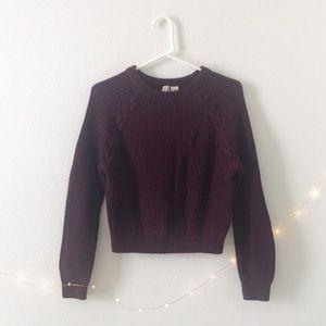 🍁🍂 NWOT H&M Burgundy Braided Sweater
